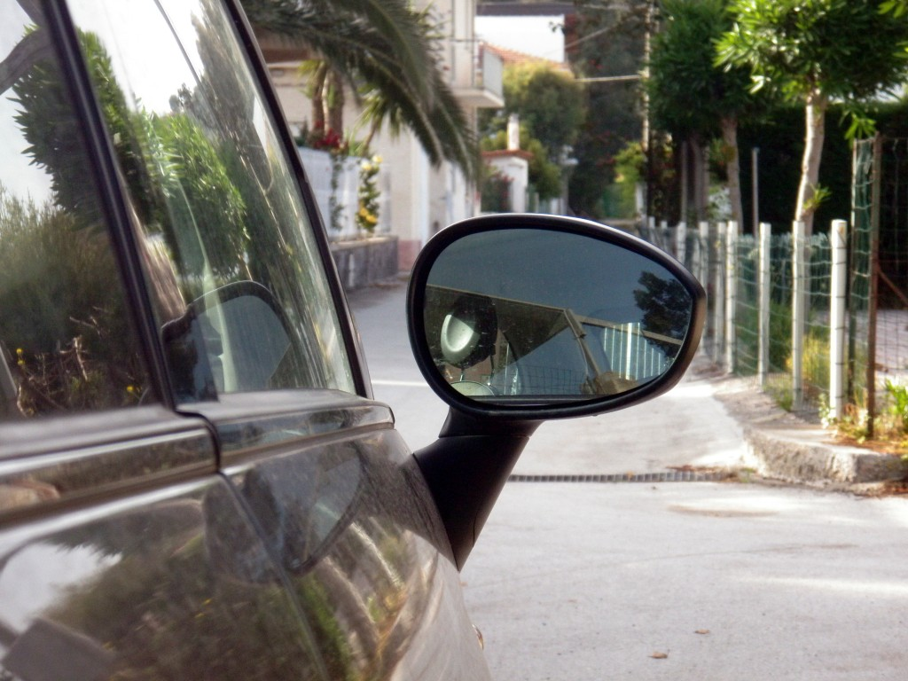 The mirrors are only there to intimidate other drivers.
