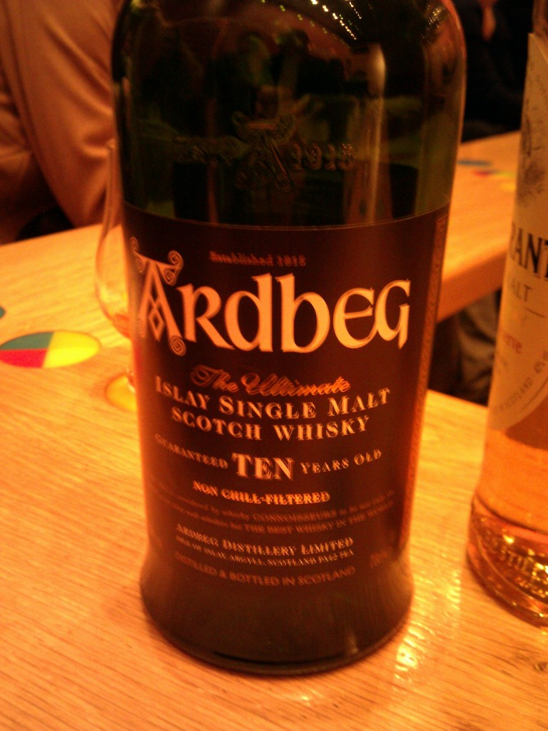 Ardbeg Ten-Year Scotch. I'm pretty sure this is the favorite of all bartenders in Scotland.
