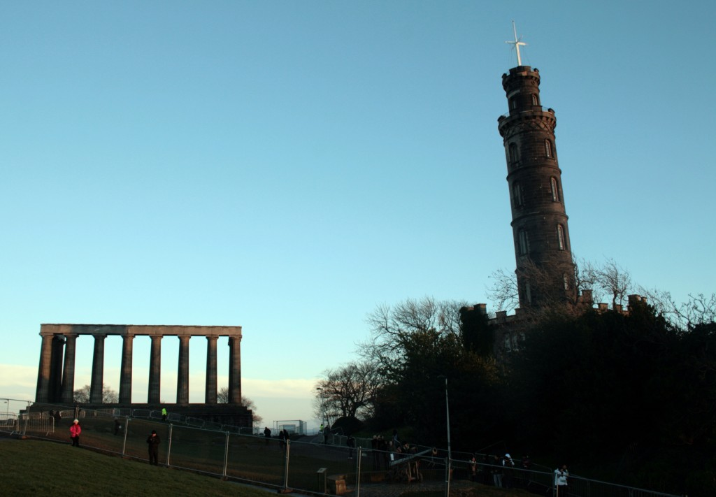 Monuments at the top of Calton Hill