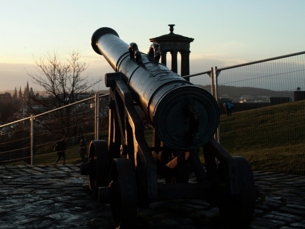 Cannon aimed West