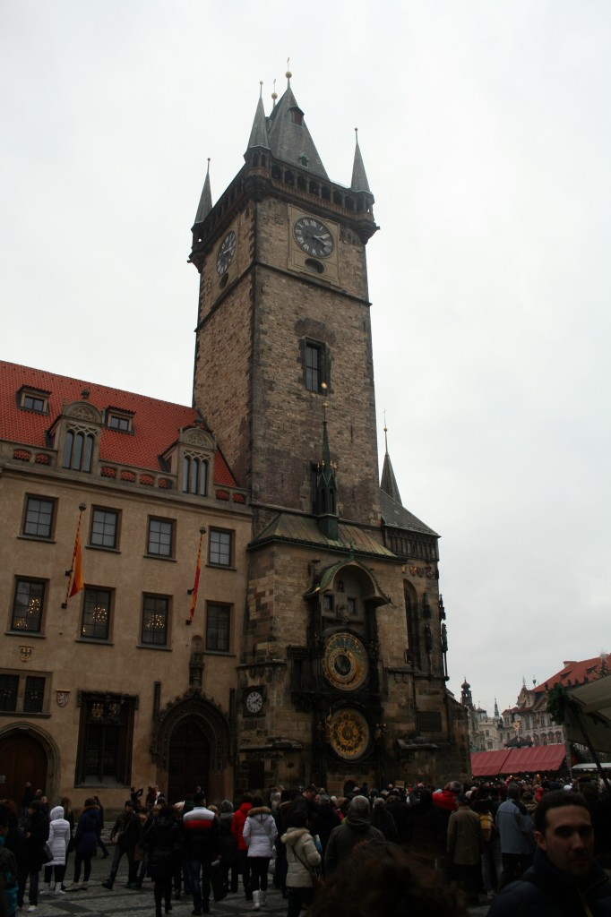 Old Town Square is home to a very famous astronomical clock