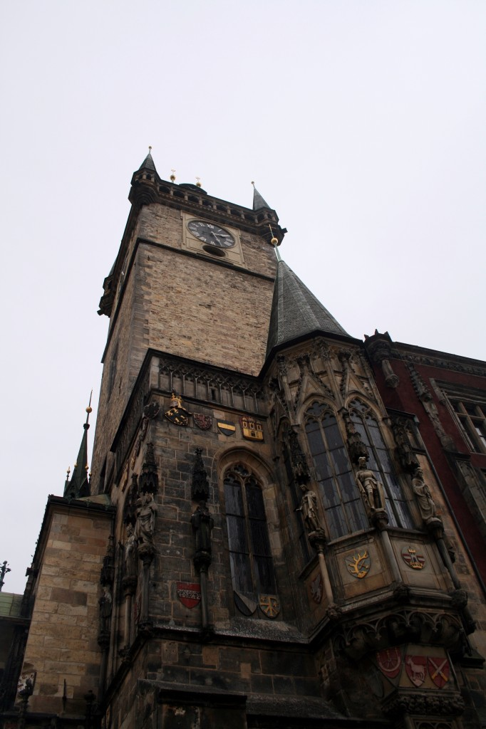 The building itself is very gothic and imposing, standing across the square from the Church of our Lady Before Tyn
