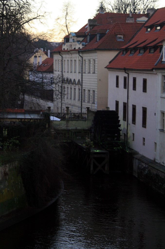 Prague has several canals that branch off of the river, and many of the buildings display their heritage as former mills and factories thanks to the old waterwheels that still spin with the current
