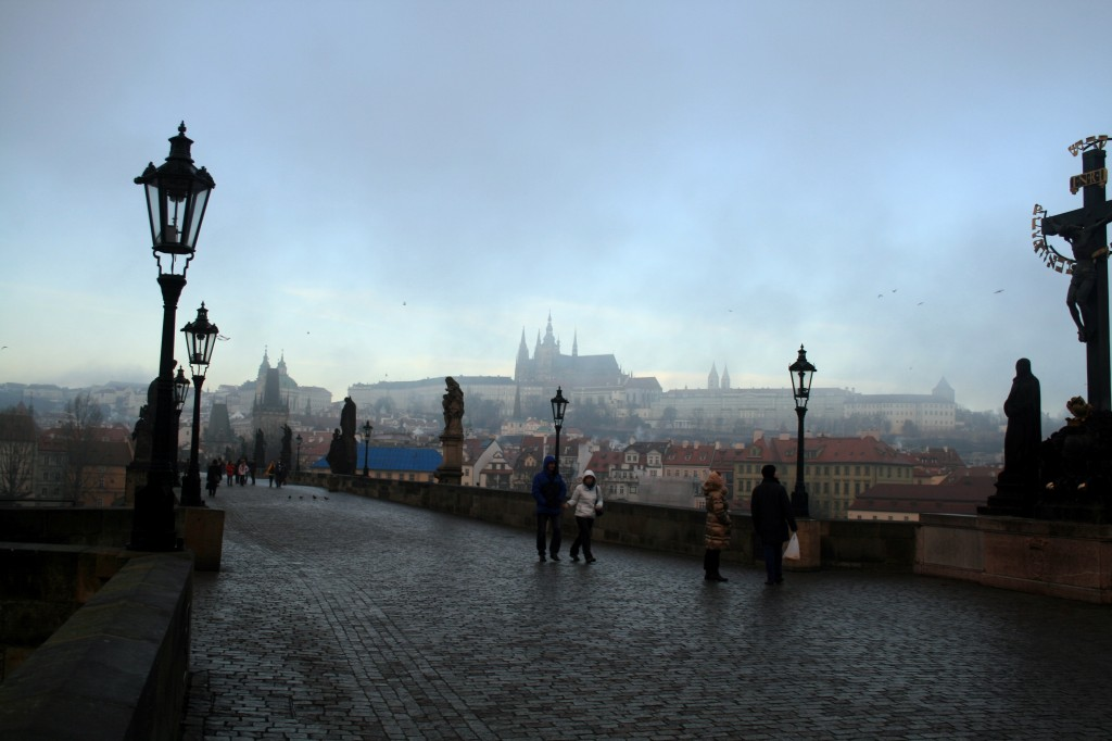 Still looking west-ish, up at what might be Prague Castle, I'm not sure.