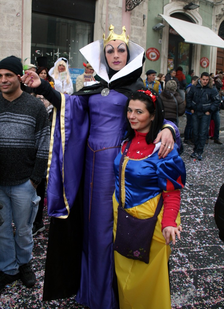This guy totally owned the Evil Queen look.  The girl he's with... maybe not so convinced.