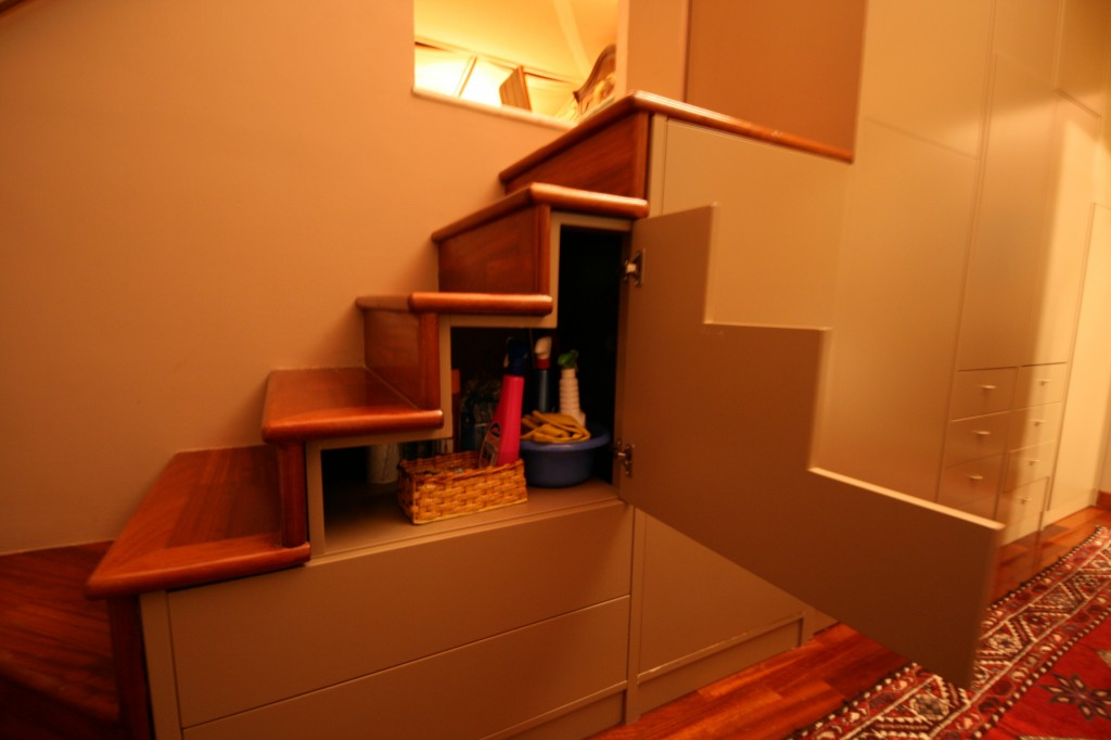 No space left unused... although if they have storage under the stairs, what's holding up the stairs?  Windex?